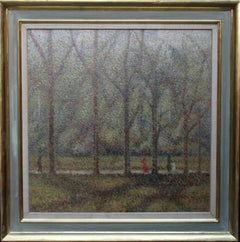 Early Morning Hyde Park London - British 1920's Post Impressionist landscape art