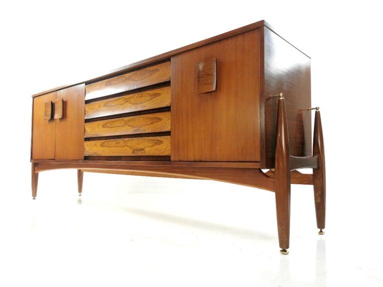 Elliotts of Newbury Rosewood and Teak Midcentury Sideboard 1960s Vintage For Sale 1
