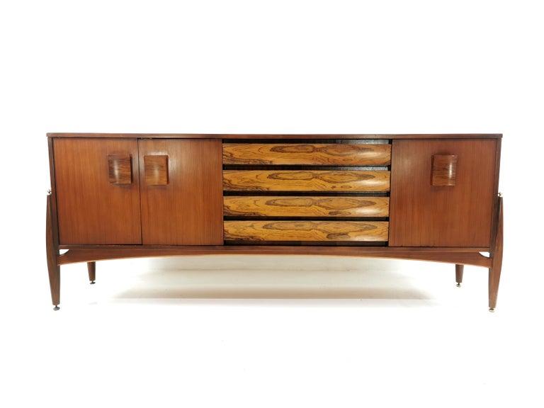 Elliotts of Newbury Rosewood and Teak Midcentury Sideboard 1960s Vintage For Sale 2