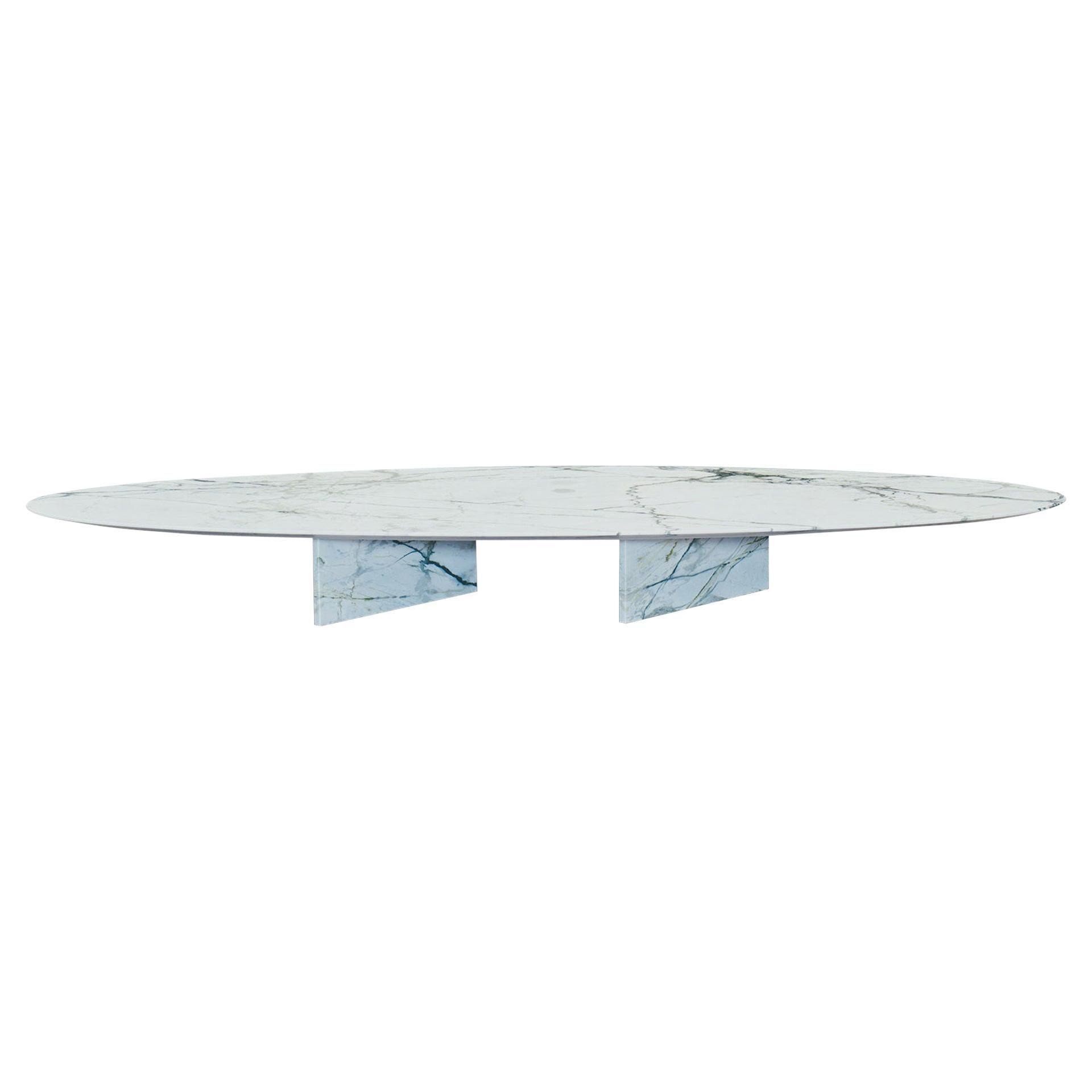 Contemporary Marble Coffee Table, Ellipse 01.4 c by barh