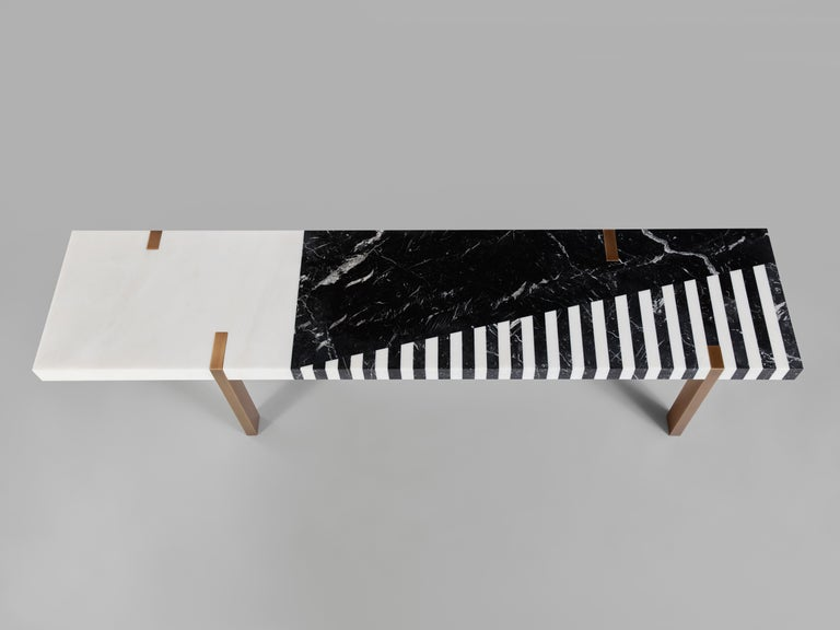 By leading figure in contemporary architecture French Isabelle Stanislas, who was included in 2019 in the exclusive group of 100 international Interior Designers chosen by AD USA as well as by ELLE Decor USA, the 'Ellipse' Bench speaks for the