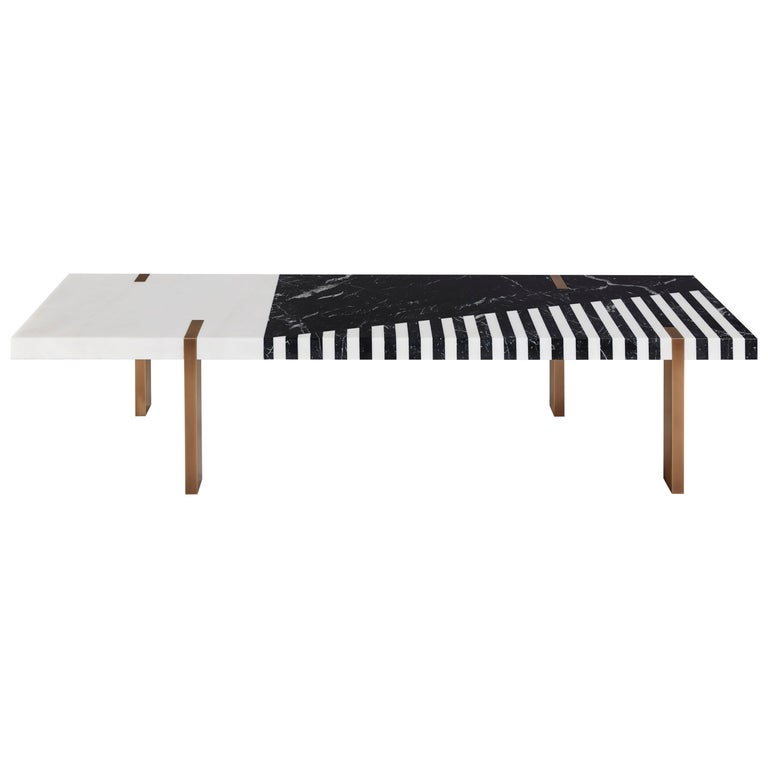 Ellipse Bench/Coffee Table by Isabelle Stanislas For Sale