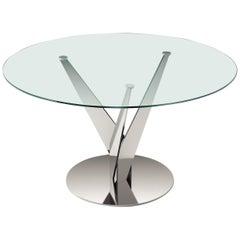 Ellipse Chrome Table