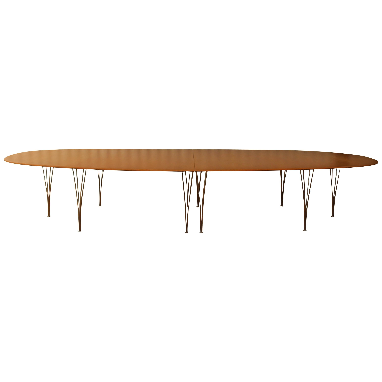 Ellipse Dining Table by Piet Hein for Fritz Hansen, Denmark, 1960s