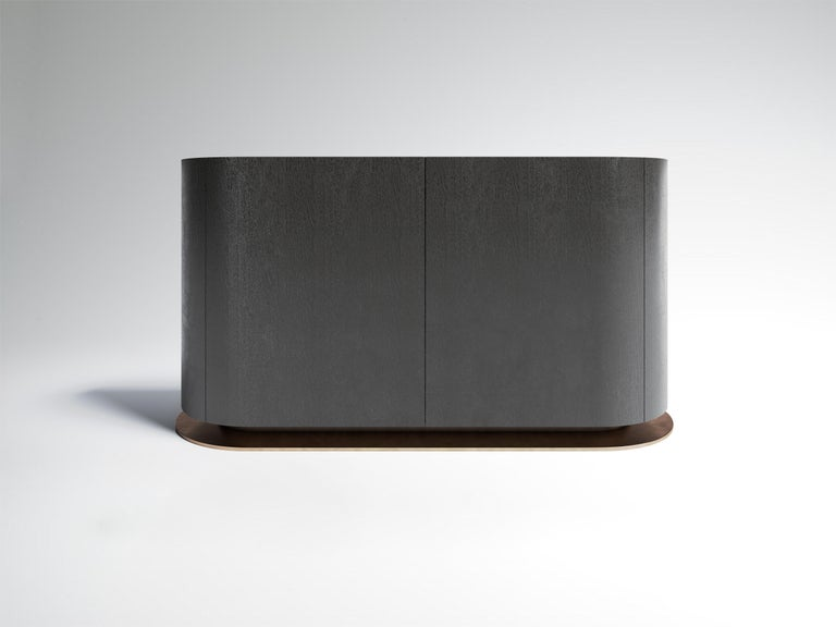 Modern Éllipse Sideboard Sucupira Silver by À Nous Deux For Sale