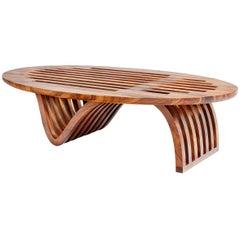 """Elliptical Coffee Table"" by Minimalist Studio Craft Artist Adam Zimmerman"