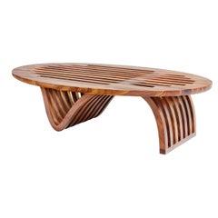"""Elliptical Coffee Table"" by Studio Craft Artist Adam Zimmerman, 21st Century"