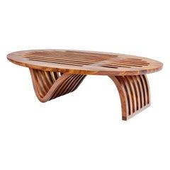 """Elliptical Coffee Table"" by minimalist  Studio Craft Artist Adam Zimmerman."
