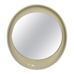 Elliptical Mirror in Cream Color Resin, Italy