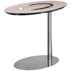 Elliptical One-Leg Side Table