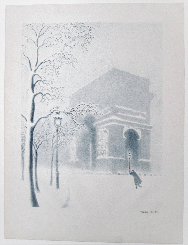 Arc de Triomphe in Snow (Napoleon's Triumphal Arch)