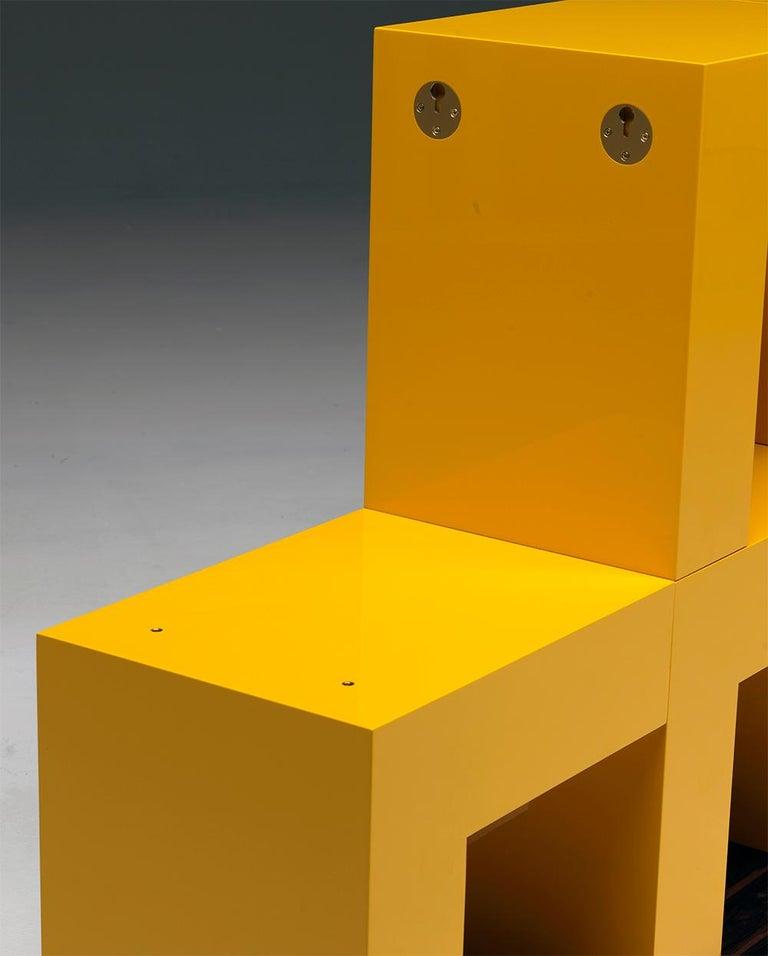 Ellissima M Modular Glossy Bookcase with Base in Ziricote Wood by Aldo Cibic 5