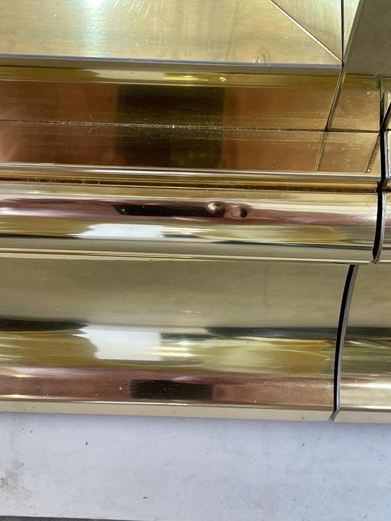 Ello Brass & Mirror Triple Front Vitrine For Sale 12