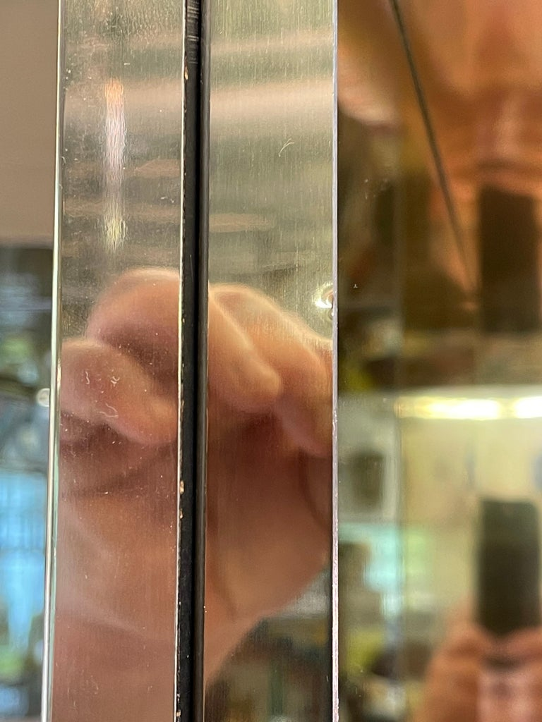 Ello Brass & Mirror Triple Front Vitrine For Sale 13