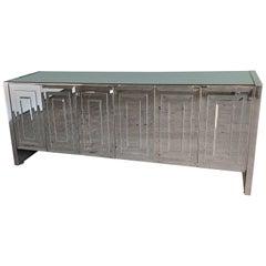 Ello Six-Door Mirrored Cabinet Sideboard