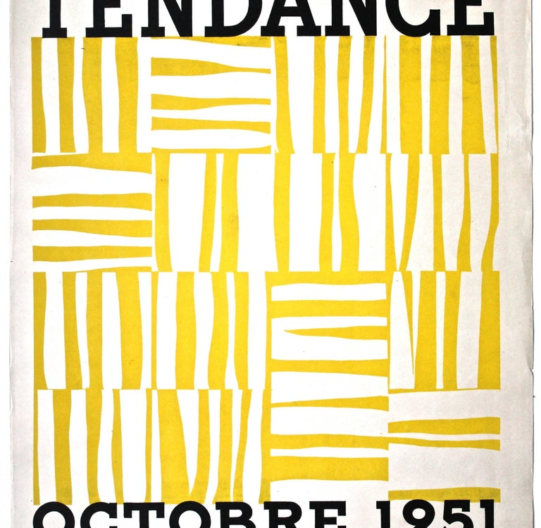 Offering a very rare (not noted in Waldman 'Ellsworth Kelly drawings, collages, prints' 1971.) and extremely important poster for what was perhaps Kelly's first (group) exhibition. Screen printed in yellow and black.