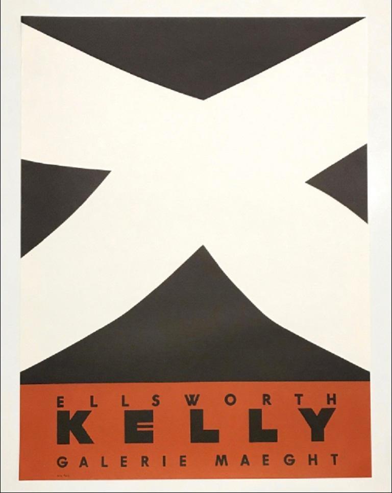Ellsworth Kelly Noir et Rouge original vintage poster.