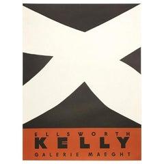 Ellsworth Kelly Noir et Rouge Original Vintage Poster