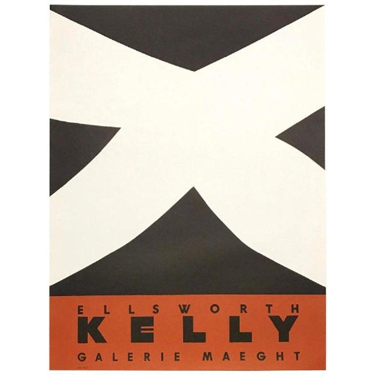 Ellsworth Kelly Noir et Rouge Original Vintage Poster For Sale