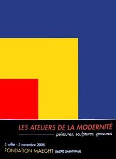 2005 Ellsworth Kelly 'Red, Yellow, Blue' Minimalism Red,Yellow,Blue,Black France