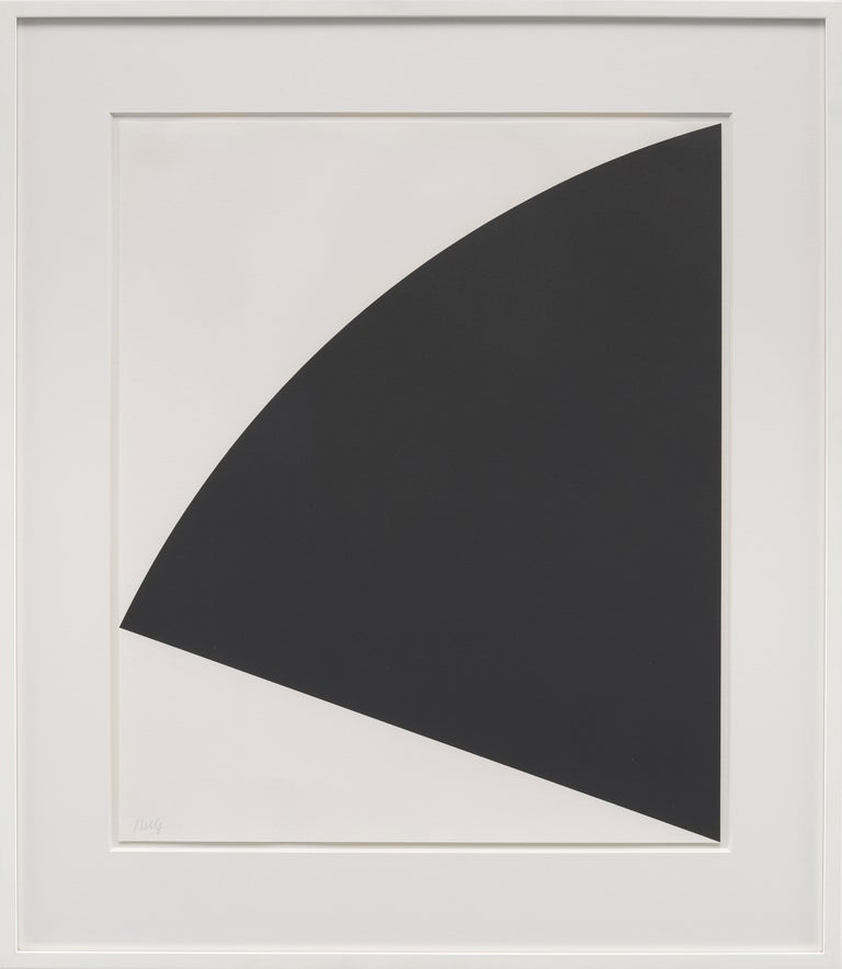 Black Curve - Abstract Geometric Print by Ellsworth Kelly