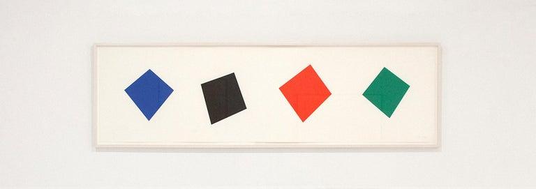 Blue / Black / Red / Green  - Print by Ellsworth Kelly