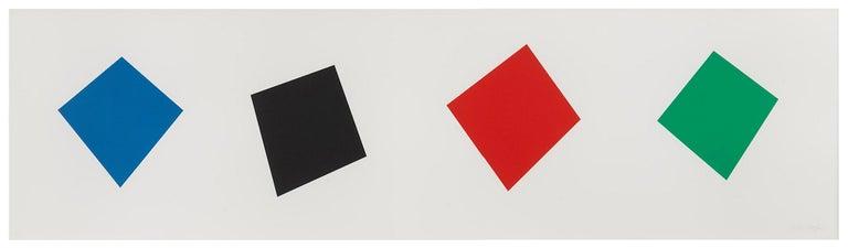 Ellsworth Kelly Abstract Print - Blue / Black / Red / Green