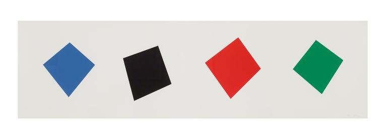 Blue/Black/Red/Green - Print by Ellsworth Kelly
