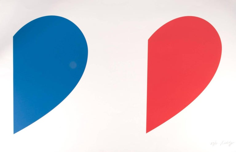 Ellsworth Kelly Abstract Print - Blue Curve/Red Curve