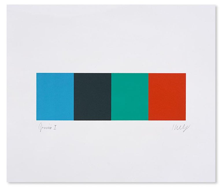 Ellsworth Kelly Abstract Print - Blue Gray Green Red