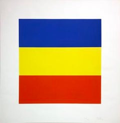 Blue/Yellow/Red (Untitled); 1970-1973; Screenprint in colors.