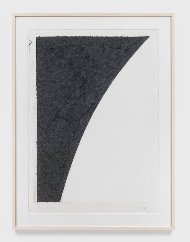 Colored Paper Image I (White Curve with Black I) - Print by Ellsworth Kelly