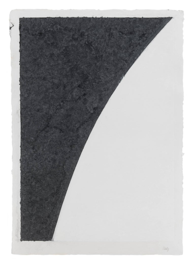 Ellsworth Kelly Abstract Print - Colored Paper Image I (White Curve with Black I)