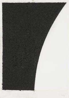 Colored Paper Image VI (White with Black Curve II)