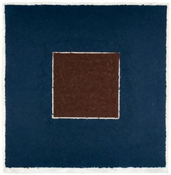 Colored Paper Image XX (Brown Square with Blue), from Colored Paper Images