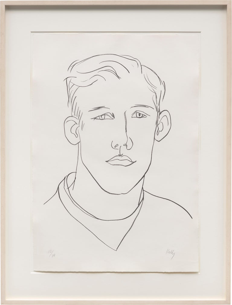 Lithograph on Rives BFK white paper Frame: 45 x 35 1/4 x 1 3/4 inches Edition 10/20  Signed and numbered in graphite (lower recto)  The subject of this portrait is David McCorkle. In the fall of 1964 Kelly traveled with McCorkle and another American