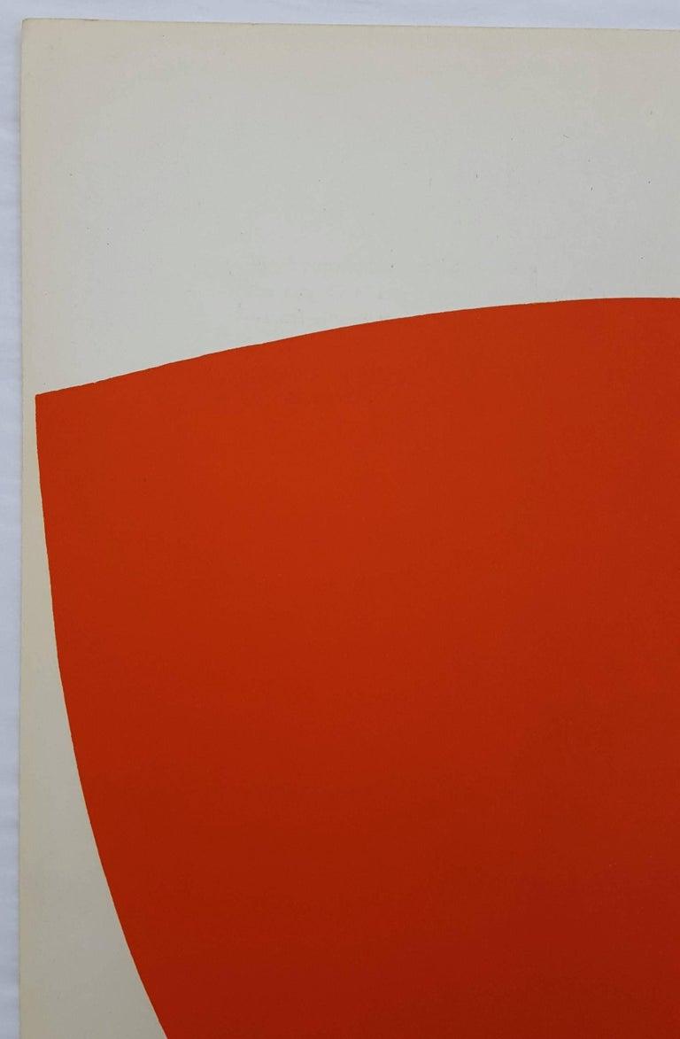 Derrière Le Miroir No. 110 (back cover) - Minimalist Print by Ellsworth Kelly
