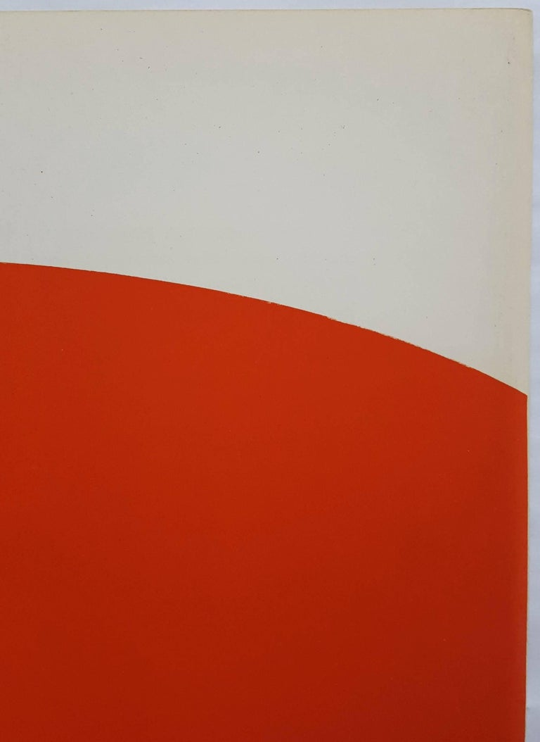 Derrière Le Miroir No. 110 (back cover) - Red Abstract Print by Ellsworth Kelly