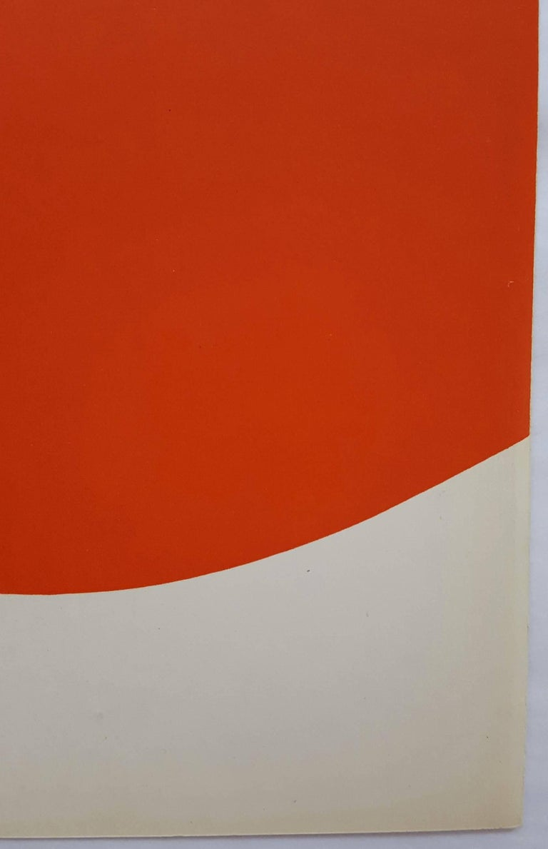 An original one page lithograph on smooth wove paper by American artist Ellsworth Kelly (1923-2015)