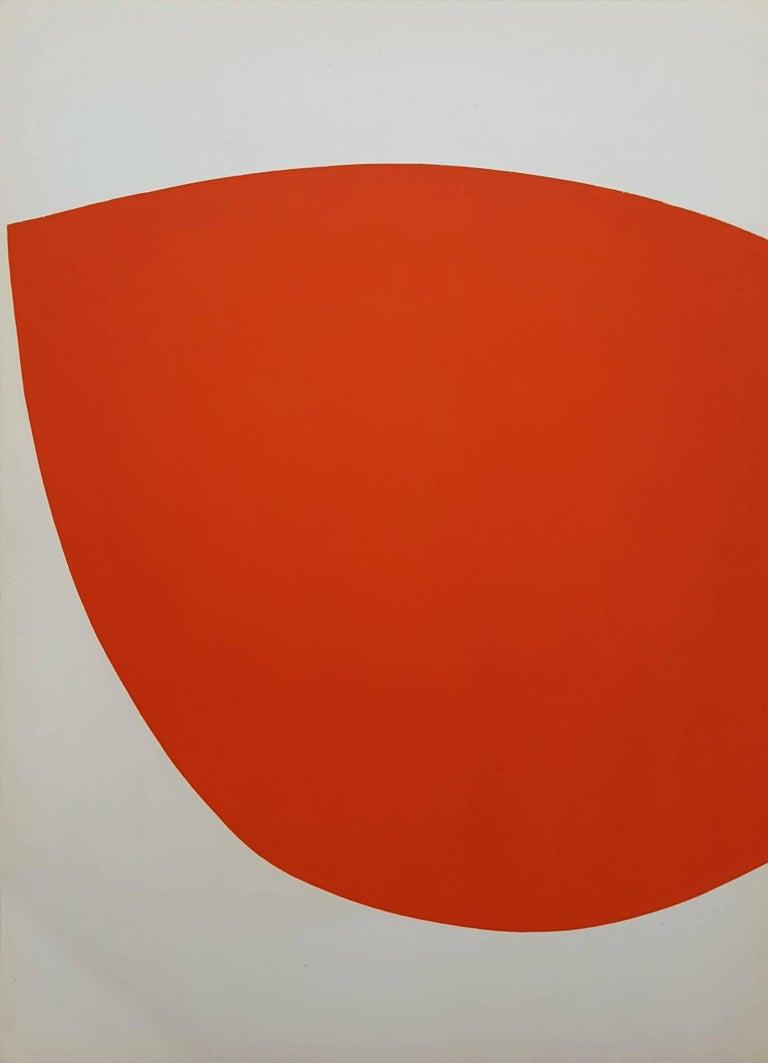 Ellsworth Kelly Abstract Print - Derrière Le Miroir No. 110 (back cover)