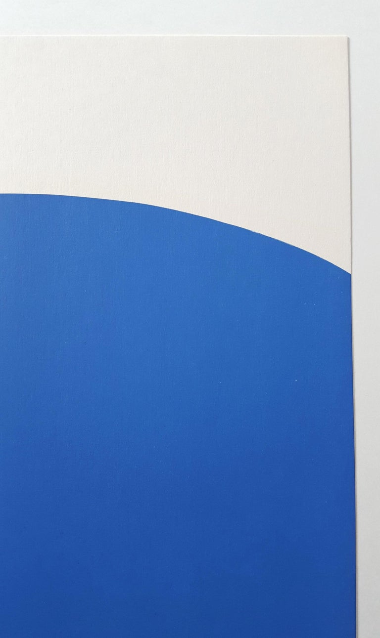 Derrière Le Miroir No. 110 (front cover) - Blue Abstract Print by Ellsworth Kelly