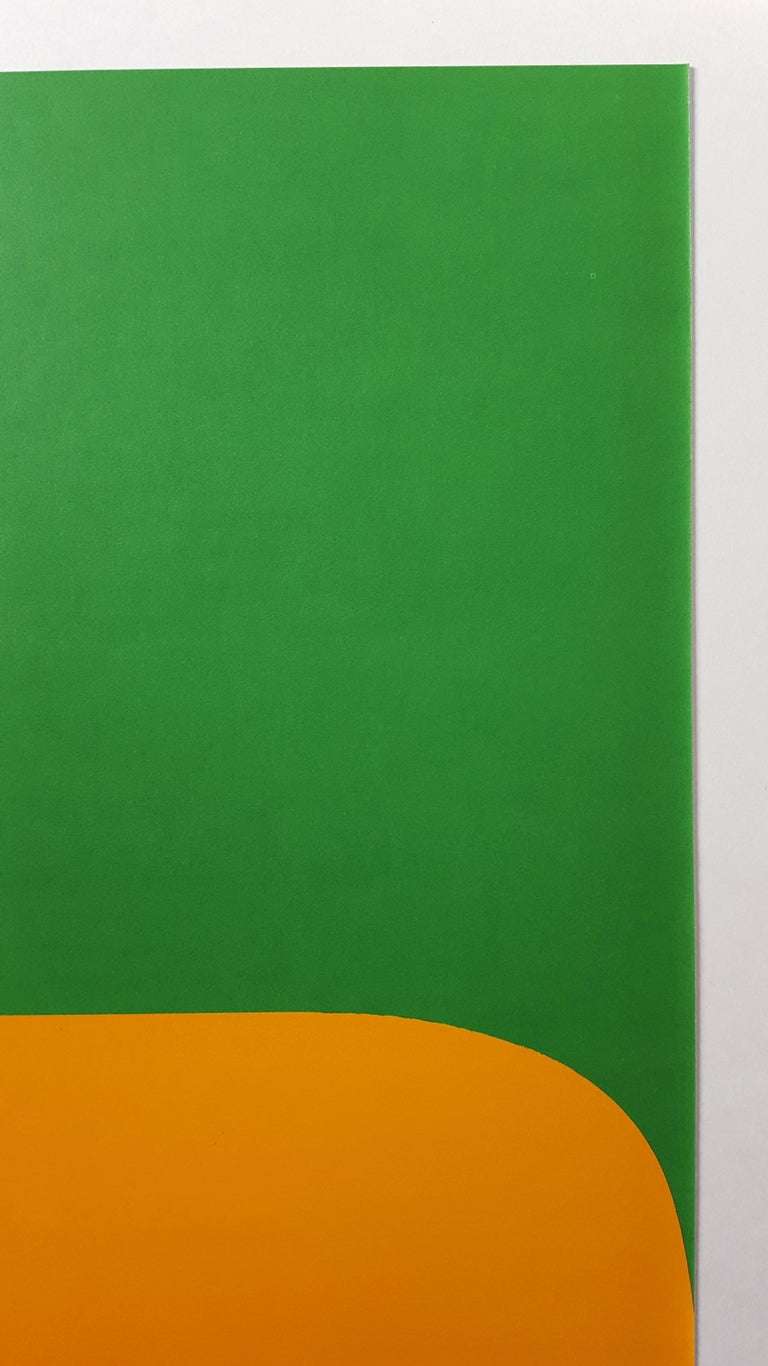 Derrière Le Miroir No. 149 (page 6) - Green Abstract Print by Ellsworth Kelly