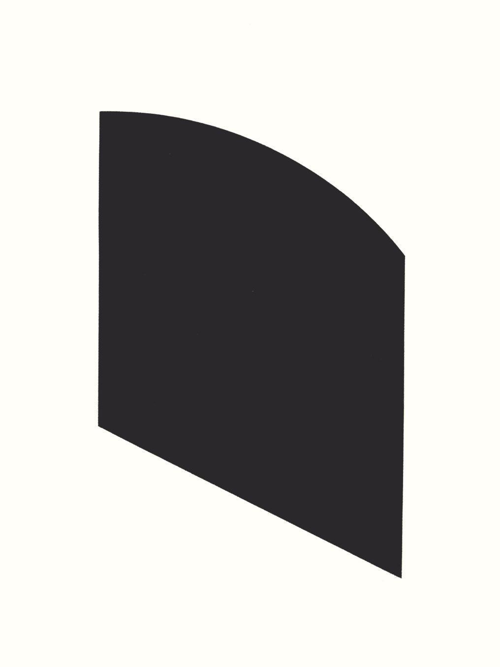 Ellsworth Kelly, Black Shape Lithograph, 2003