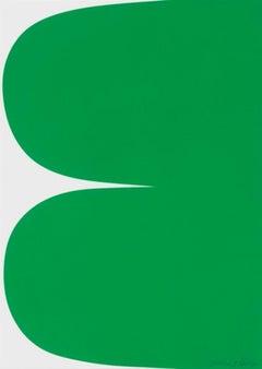 Ellsworth Kelly, Green Curves, Lithograph, 2013