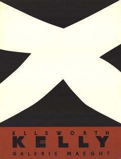 "After Ellsworth Kelly-Noir Et Rouge-25.5"" x 19.5""-Lithograph-1958-Minimalism"