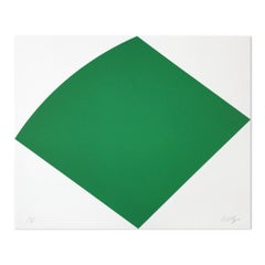 Green Curve, Abstract Artist, Geometric Abstraction, Hard-Edge, Minimalism