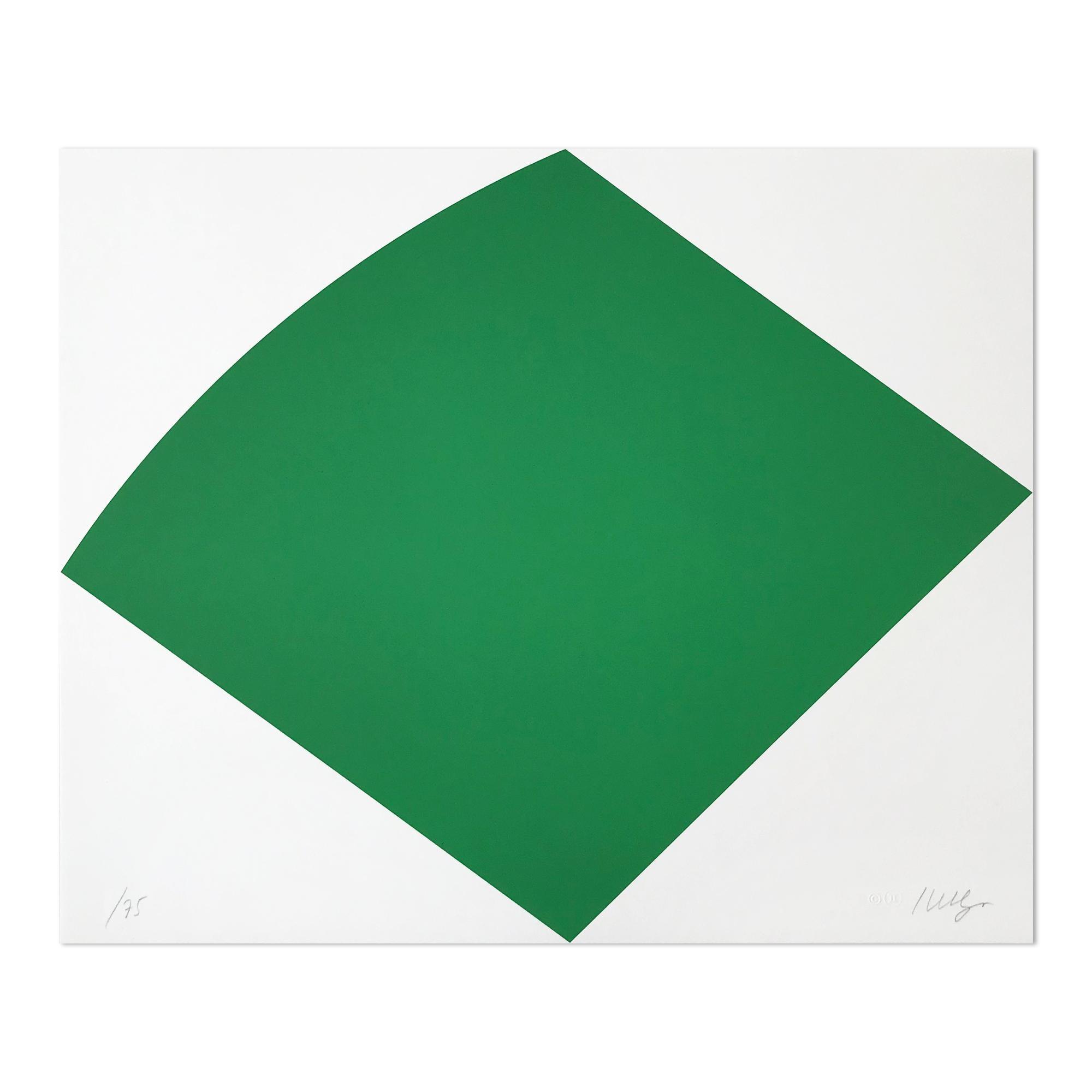 Green Curve, Abstract Artist, Geometric Abstraction, Hard-Edge, Minimalism