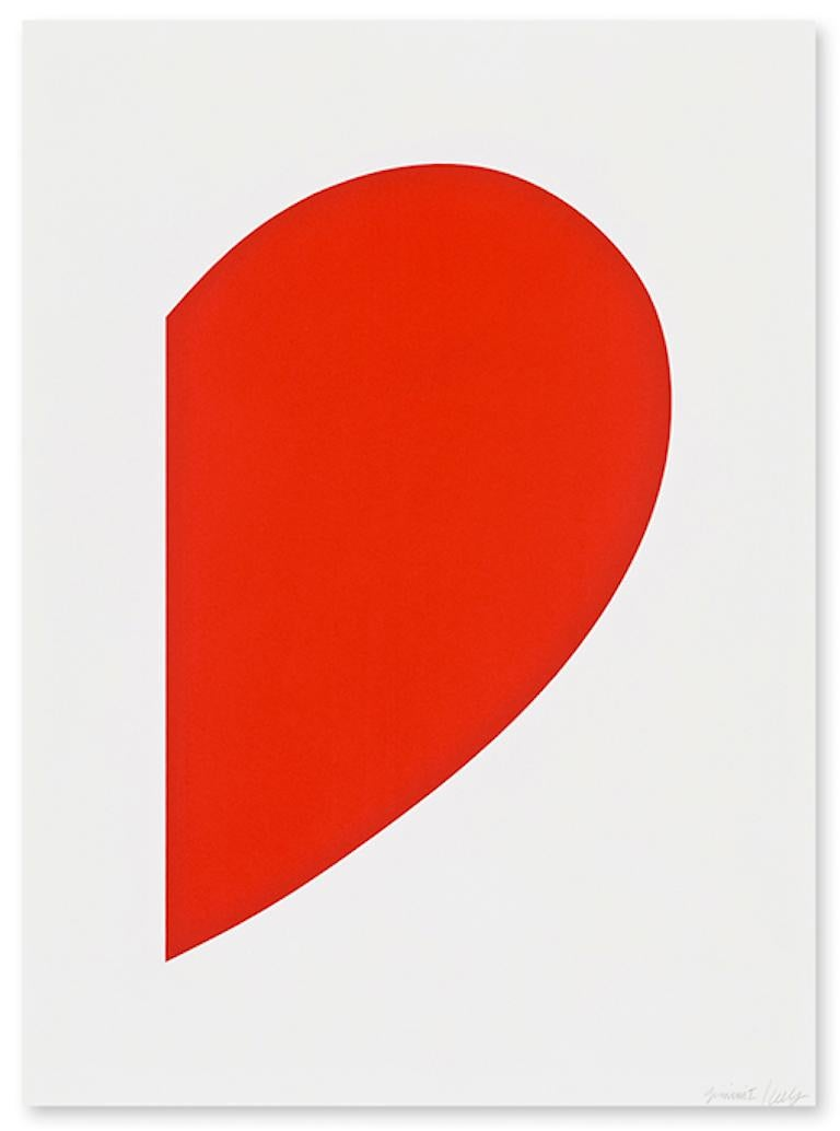 Ellsworth Kelly Abstract Print - Red Curve