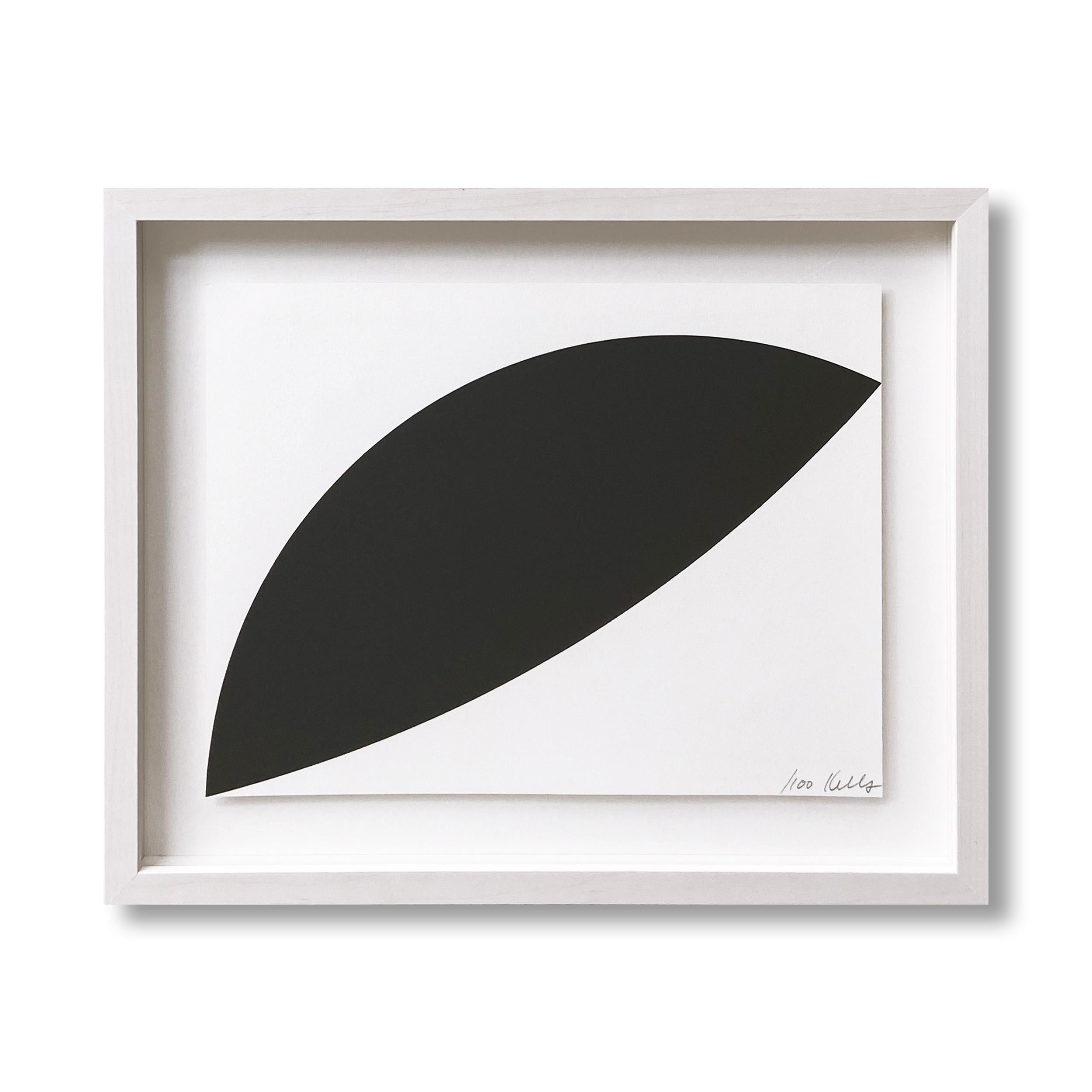 Two Curves, Abstract Art, Geometric Abstraction, Hard-Edge, Minimalism