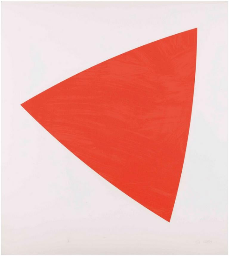 Ellsworth Kelly Abstract Print - Untitled (Red State II)